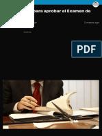 Guía práctica para aprobar el Examen de Abogacía