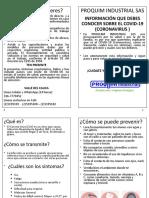 folleto coronavirus proquim