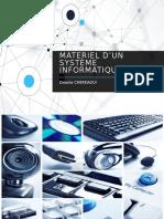 L'Environnement Materiel d'Un Système Informatique