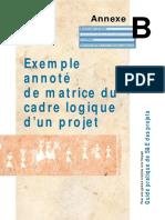 matrice du cadre logique d1 projet
