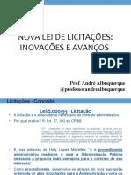 Nova Lei de Licitações - Inovações e Avanços (Palestra)