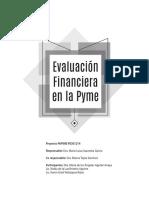 EVALUACION FINANCIERA EN LA PYME Emprendedores UNAM