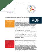 EONS Safety Manifesto