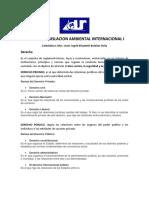 LEGISLACION AMBIENTAL INTERNACIONAL  I (Contenido I parte) 2020