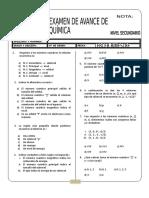 Examen de Avance III de Quimica 2do
