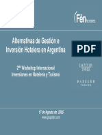 Alternativas Gestion e Inversion Hotelera