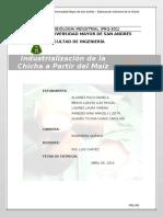 INDUSTRIALIZACION DE LA CHICHA A PARTIR DEL MAÍZ