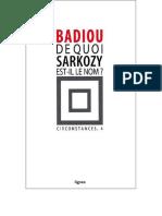 Badiou, Alain  - [badiou circonstances 4] - De quoi Sarkozy est-il le nom.pdf