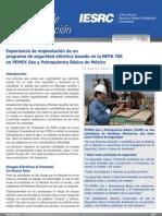 Art. 1 - Experiencia de implantación de un programa de seguridad eléctrica basado en la NFPA 70E en PGPB México