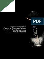 Corpos imperfeitos na performance contemporânea - Livro de atas