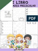 Mi Libro de Actividades de Preescolar Por Materiales Educativos Maestras