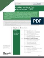 Objetivos MOS Excel 2016