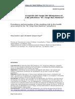 """Prevalencia y percepción del riesgo del tabaquismo en el área de salud del policlínico """"Dr. Jorge Ruiz Ramírez"""""""