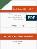 Filosofia da Educação – D07 aula 4