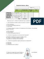 Evaluación 2°básico ciencias Marzo 2014