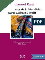 Los progresos de la Metafisica desde Leibniz y Wolff - Immanuel Kant