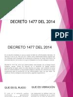 DECRETO 1477 DEL 2014 EXPOSICION
