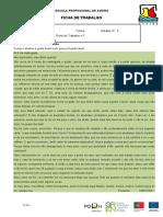 F.T.  Ortografia carta Ofélia Queirós