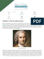 Resumen de Emilio o De la educación, de Jean-Jacques Rousseau