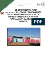 Plan de Contingencia Para Prevenir La Llegada y Propagacion Del Coronavirus Covid 2020