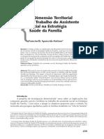 A Dimensão Territorial No Trabalho Do Assistente Social Na Estrategia de Saude Da Familia