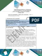 Guía de actividades y rúbrica de evaluación - Unidad 1- Paso  2 - Primeros pasos en un foro
