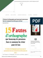 15 fautes d'orthographe que beaucoup de personnes font (et comment les éviter pour de bon) - FrenchPdf - Télécharger des livres pdf