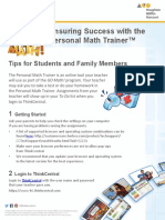 personal math trainer go math  student and family guide