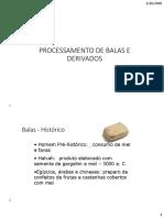 PROCESSAMENTO DE BALAS E DERIVADOS