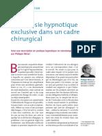 ANESTHESIE PAR HYPNOSE TRANSES-7. D. Miras