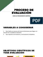 EL PROCESO DE EVALUACIÓN. ppt