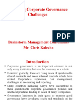 Managing Corporate Governance Challenges