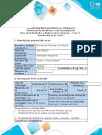 Guía de actividades y rúbrica de evaluación - Fase 3 - Desarrollo de la tarea