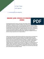 Resumen documental Inside Job