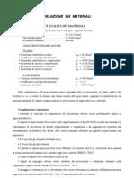 RELAZIONE  SUI  MATERIALI plinto E70