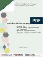 Ementário disciplinas articuladoras _ 2019