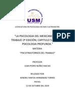 """RESUMEN """"LA PSICOLOGIA DEL MEXICANO EN EL TRABAJO 2ª EDICIÓN; CAPITULO 5 NUESTRA PSICOLOGIA PROFUNDA."""""""