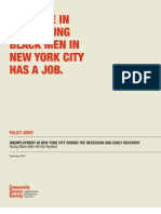 Only One in Four Young Black Men in New York City Has a Job