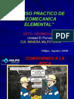 CURSO PRACTICO DE GEOMECANICA ELEMENTAL MTTO. MECANICO