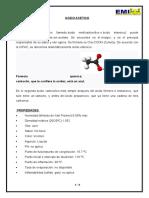 CARACTERISTICAS DEL ACIDO ACETICO
