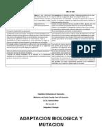 ADAPTACION BIOLOGICA