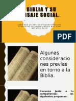 Biblia y mensaje social