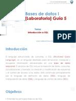 Bases de datos I [Laboratorio] - Guía 5