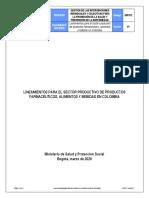 LINEAMIENTOS PARA EL SECTOR PRODUCTIVO ALIMENTOS, FARMACEUTICOS.pdf