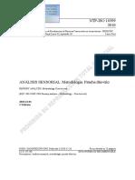 NTP ISO 10399 - Análisis sensorial. Prueba duo trio