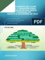 FORTALECIMIENTO DEL CLIMA LABORAL Y ORGANIZACIONAL EN LAS