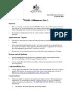 200327 - Practice Direction - Covid-19 Measures (No 4)