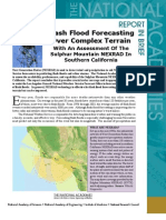 Flash Flood Forecasting Over Complex Terrain, Report in Brief