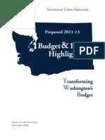 2011-13 Washington budget proposal