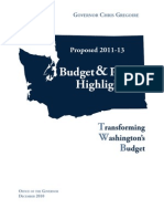2011-13 Washington budget proposal